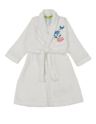 EX M*S Autograph Kids Girls Embroidered Floral Dressing Gown Belt 15- 16 Years