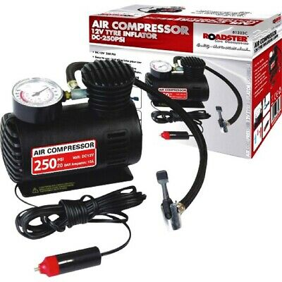 Car Tyre Air Compressor Pump 12v Bike Cycle Cord Inflator 250psi Single Stage