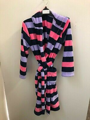 Ex Marks and Spencer Kids Girls Multi Striped Dressing Gown 15 - 16 Years