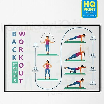 Stretching Exercise Training Exercising for Heath Print Art Poster   A4 A3 A2 A1