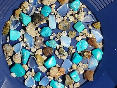 Gold paydirt 1/2 lb Unsearched Opals+Turquoise Crystals+20 Gold+Silver Pay Dirt