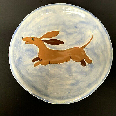 Doxie Dashund Dog Ceramic Wall Hanging 2004 Vintage Hand Made
