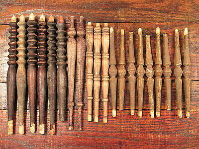 20 Vintage Wooden Chair Parts Spindles Ballusters Salvaged Furniture Repurpose