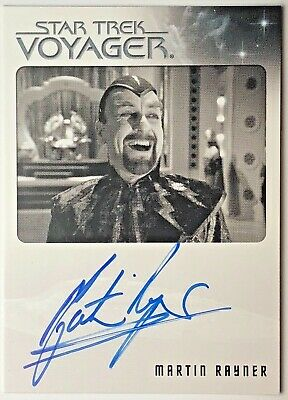 STAR TREK Quotable VOYAGER - Autograph Trading Card - MARTIN RAYNER as CHAOTICA