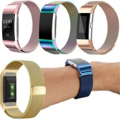 For Fitbit Charge2 Strap Replacement Milanese Band Metal Stainless Steel Magnet@