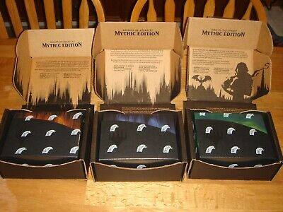 MTG Mythic Edition SET of 3 - COMPLETE -Magic the Gathering GRN RNA WAR- SEALED
