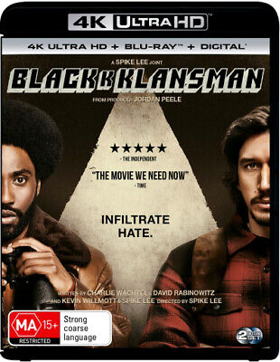 Blackkklansman (4K Uhd/Blu-Ray/Uv) (2018) [New Bluray]