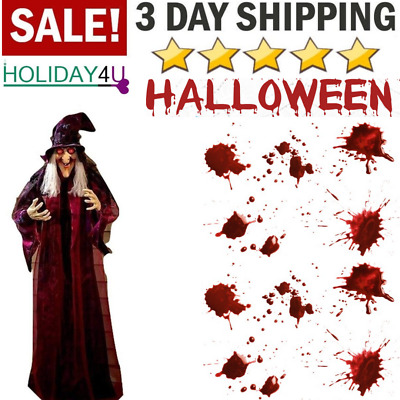 Life Size Animated Halloween Animated Talking Witch Haunted House Prop Decor 71""