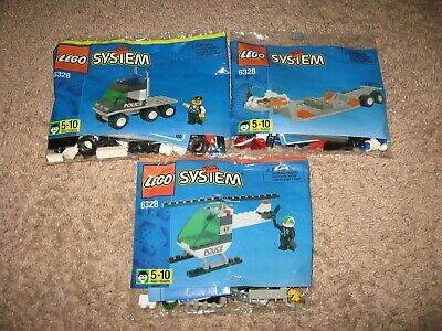 Lego City /System HELICOPTER TRANSPORT Set 6328 2 Minifigures 1998 3 Sealed Bags