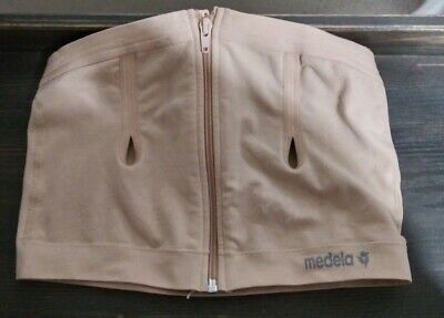 MEDELA Easy Expression Bustier Hands Free Pumping Bra Nude Size L Breast Pump