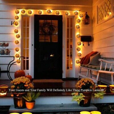Halloween String Lights Pumpkin Lights Jack O Lantern Lantern 10pcs