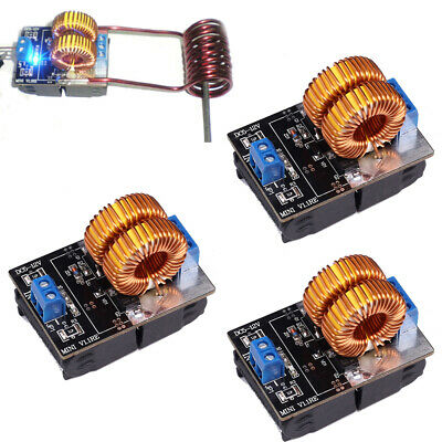 3Pcs 150W ZVS Induction Heating Board High Voltage Generator W/Coil DC 5-15V Lot