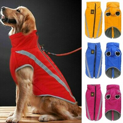 SMALL to EXTRA LARGE Dog Pet Waterproof Winter Rain Coat Warm Jacket Clothes