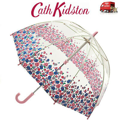 Cath Kidston Mews Ditsy Border Childs Umbrella Funbrella Clear Dome Shape Floral