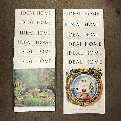 The Ideal Home Magazine: Complete 12 Issue Set: Jan-Dec 1950