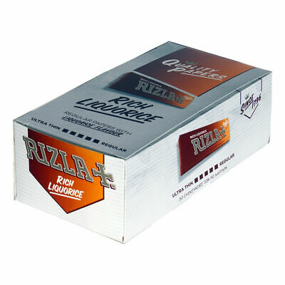 Box of 50 Rizla Liquorice Rolling regular Papers Rich BROWN chocolate taste