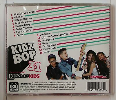 Kidz Bop 31 Biggest Hits Sung By Kids For Kids US CD 2016
