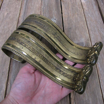 Old Pair of Ornate Brass Curtain Tie Backs