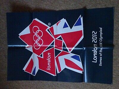 "OFFICIAL OLYMPIC GAMES 2012 LONDON GAMES OF THE OLYMPIAD ORIGINAL 26""x24"" POSTER"