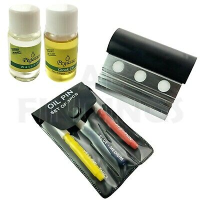 Watchmakers Oil Container with 3 Cups + Set of 3 Oil Pins + Oil