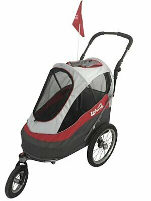 Innopet IPS-056/AT Sporty Dog Trailer Deluxe Poussette/Remorqu(Rouge/Gris)