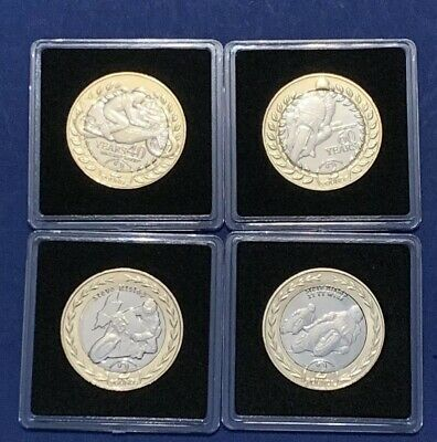 Set 2018 2019 Isle of Man IOM TT £2 Two Pounds Coin RARE UNC In Capsules 4 Coins