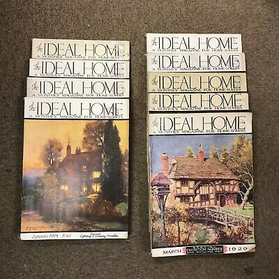 The Ideal Home Magazine: Complete 12 Issue Set: Jan-Dec 1928