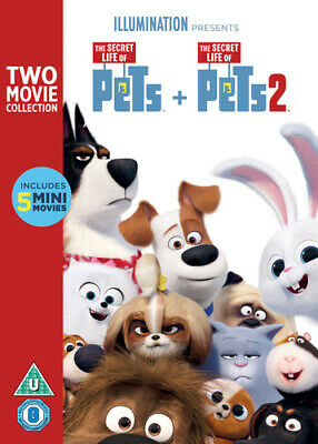 The Secret Life of Pets 1 & 2 DVD (2019) Chris Renaud cert U 2 discs ***NEW***