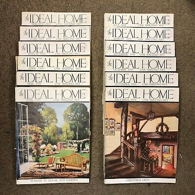 The Ideal Home Magazine: Complete 12 Issue Set: Jan-Dec 1935