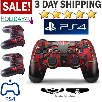 Playstation 4 Ps4 DualShock Wireless Game Controller AntiSlip Scratch Win Spider