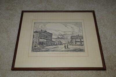 Lithographic Drawing Print by Birger Sandzen - The End of the Texas Cattle Trail