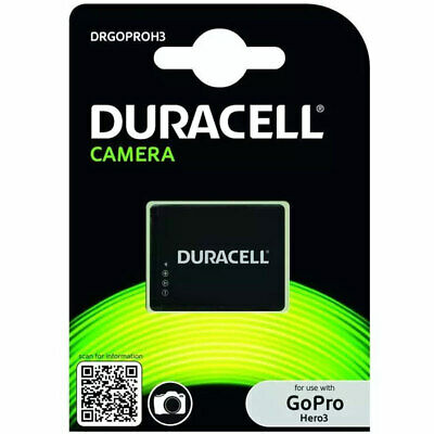 Duracell GoPro Hero 3 Replaceable Rechargable Battery New Uk DRGOPROH3