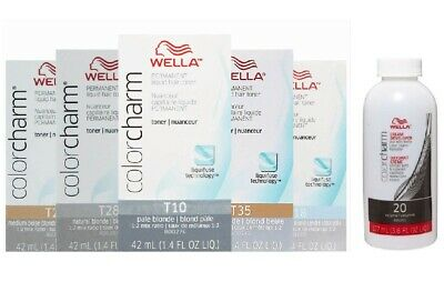Wella-T18 Hair Colour Toner T10 T11 T14 T15 T18 T27 T28 T35 Developer (Vol.20)
