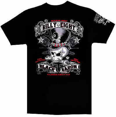 T-shirt Billy Eight manche courte-100% coton  -*-  Black Baron -*-