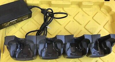 LOT 2 MOTOROLA Symbol CRD7000-4000ER 4 Slot Cradle Charger PSU 1 Tested +1 AS-IS