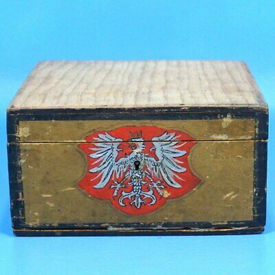 Antique Austrian Black Forest Wood Carving JEWELRY TRINKET BOX Tyrol c1920s