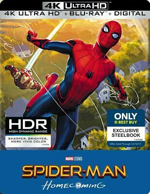 Spider-Man Homecoming & Far From Home Best Buy Steelbook 4K Ultra HD Blu-Ray NEW