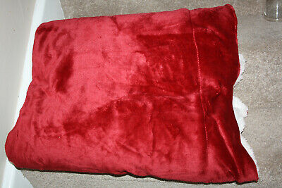 Bedsure Sherpa Blanket Red Size 150 x 200cm Fleece Bed Blanket Fluffy as picture