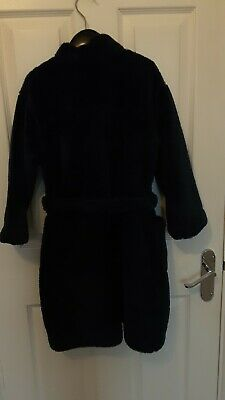 Mark's & Spencer boys navy blue cosy dressing gown. Age 6/7
