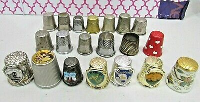 Lot Of 20 Metal Thimble Collection