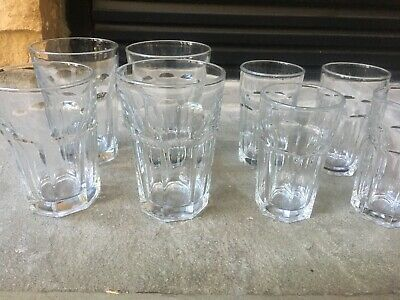 Lot of 8 Libbey Clear Gibraltar Duratuff 4- 12 0Z Tumblers And 4- 6 OZ Juice