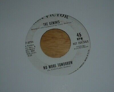 THE GEMINIS Get It On Home / No More Tomorrow - RCA Victor ‎47-8794 PROMO