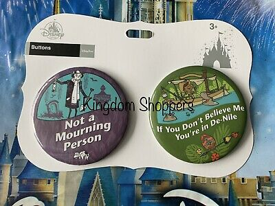 Disney Parks Attraction Button Set Haunted Mansion & Jungle Cruise NEW Buttons