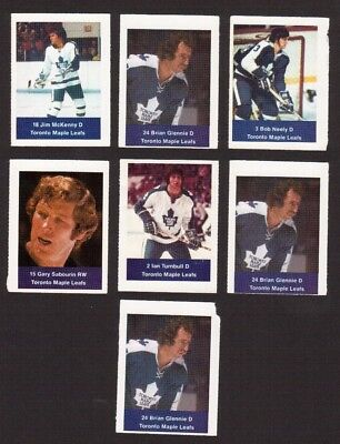 Toronto Maple Leafs 1974-75 Loblaws Hockey Stamps Lot of 7 Ian Turnbull ++