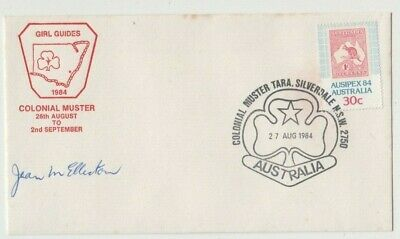 Stamp 30c AUSIPEX Australian Girl Guides on 1984 souvenir cachet cover signed