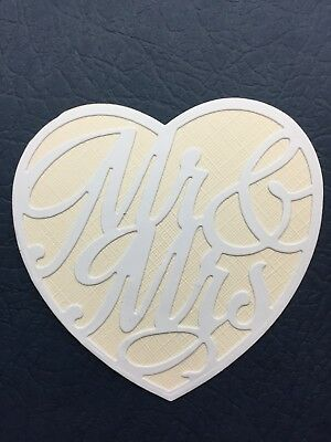 20  MR & MRS IN A HEART (wedding/ decoration/table setting/favour)