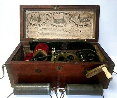 Antique 1854 Davis & Kidder MAGNETO Electric Machine Quack Medical Shock Device