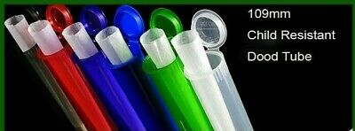 NEW 109 mm TUBES Child Resistant Cone Holder Containers 15 Colors USA 1000/ Box
