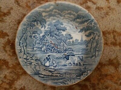 Antique vintage HM English sutherland china rural collectors collectible Plate