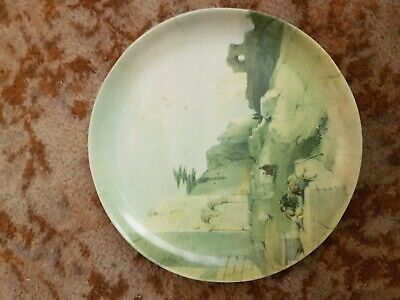 Antique Vintage Melabel melamine P-20 collectors collectable Desert scene Plate
